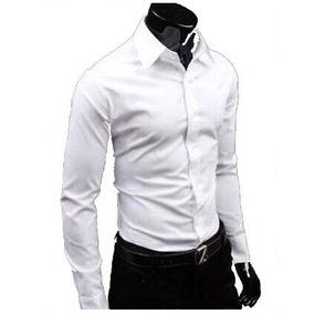 Camisas De Vestir Classic Slim Fit Shirt Basic Shirt Moda Ja 45cea4bb68b