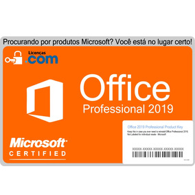 10x Microsoft Office 2019 Professional Esd + Nota Fiscal
