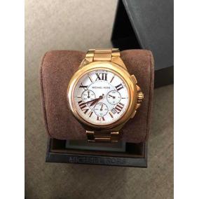 Relógio Michael Kors Mk5896 Rose Original Com Caixa E Manual ... 3d6bec35a6
