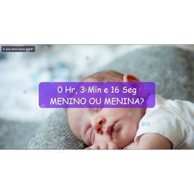 Chá De Bebê Revelação Contagem Regressiva No Telão