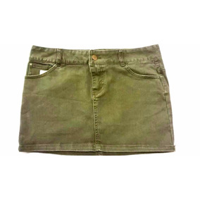 Minifalda Verde Oscuro 2.1 Denim Talla Ch Envío Gratis!
