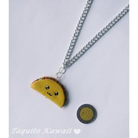 Collar Dije De Taco Comida Kawaii Cadena Regalo 14 Febrero