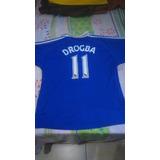 Novissima Camisa Do Chelsea Drogba - Camisa Chelsea Masculina no ... 85c9c47be72df