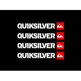 Adesivo Quiksilver 4 Unidades Para Moto Carro Eletrônicos