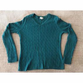 Suéter Americano Algodón Ajustable De Mujer Usado Cuello V