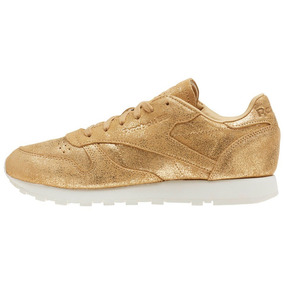 Tenis Reebok Leather Shimmer Mujer Correr Classic Gym Casual