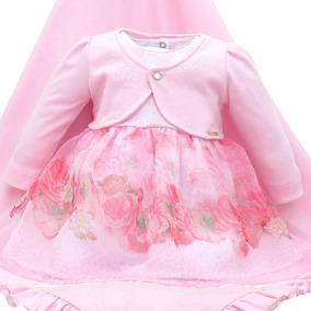 cfefd50d0 Saida De Maternidade Vestido Rosa Paraiso - Bebês no Mercado Livre ...