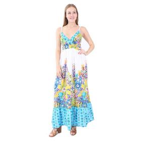 Village Venture - Vestido Estampado Floral Turquesa 203ve