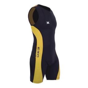 Macaquinho Triathlon Dx3 Alta Compressão Preto amarelo 84babefbb33c2