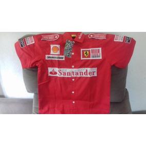Camisa Ferrari Algodão Equipe Ferrari F1 Gola ,frete Gratis