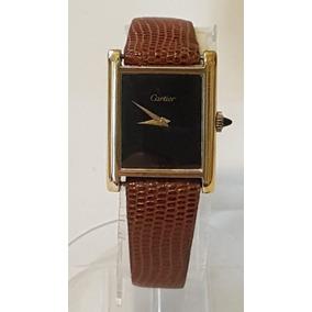 Relogio Must De Cartier A Corda Plaquê Ouro 18k Antigo