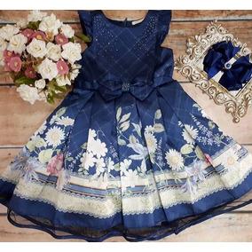 Vestido Festa Floral Azul Petit Cherie 11.12.31058 d9768d03e87