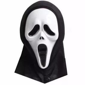 Máscara Pânico Com Capuz Cosplay Fantasia Festa Halloween