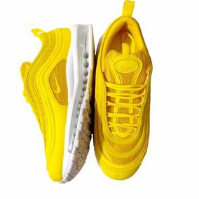 buy popular 4ce43 3a65a Tenis Hombre Y Mujer Nike Air Max 97 Amarillos Lemonade