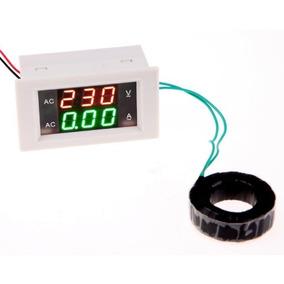 Voltímetro Amperímetro Ac Dual Display 300 V 10a Led Digita