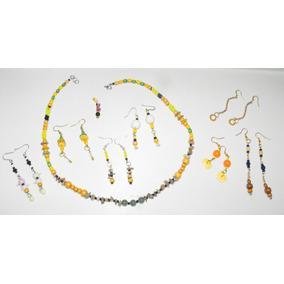 Colección Lote Joyas Aretes Collares Gemas 4148188