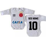 Body Infantil Roupa Bebê Bori Criança Nome Time Vasco 5fdaf26546c6d