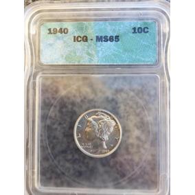 Moeda Americana Mercury Dime 1940 Icg Ms65 Frete Grátis