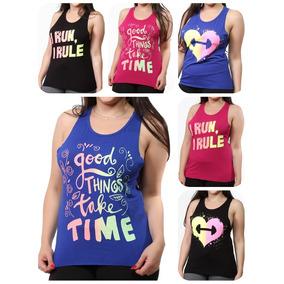 Kit 10 Regatas Femininas Academia T Shirt Fitness 9389