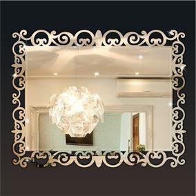 Espelho Veneziano Arabesco Retangular Em Acrílico Decorativo