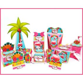 be2260a630fe8 Kit Festa Flamingo Silhouette - Artesanato no Mercado Livre Brasil