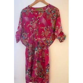 Seda India Tunica Kimono Rapsodia Vestido Floreado 7A0w01