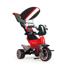 Triciclo Montable Paseo Body Sport Rojo Capucha Injusa