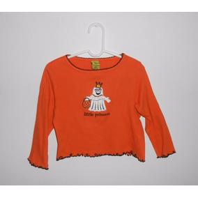 Halloween Playera Naranja Little Princess Fantasmita 3 Años