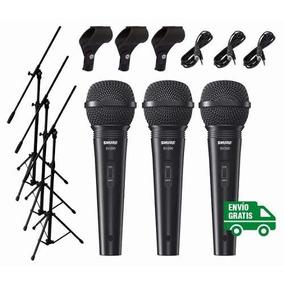 Combo Micrófono Shure Sv200 + Soporte + Cable + Pipeta