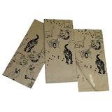 Black Cats On Natural Tan Cotton Kitchen Dish Towel Set (3 I