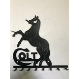 Porta Llaves Colt En Acero Color Negro