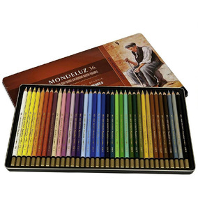 Set Profesional De 36 Lápices De Colores Acuarelables M