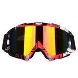 Óculos Vermelho Espelhado Motocross Trilha Enduro Crf
