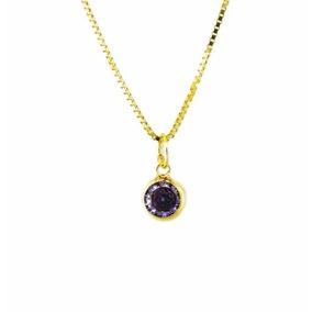 7a03255007bec 924 Pingente Gota Em Ouro 18k Com Zirconia Lilas - Joias e Relógios ...