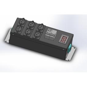 Régua Pdu De Sob. 6 Tom 10a+volt+disj Bif 20a+2 Powercom