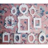 Enfeite Kit Molduras Parede Vintage Provencal - Sem Espelho