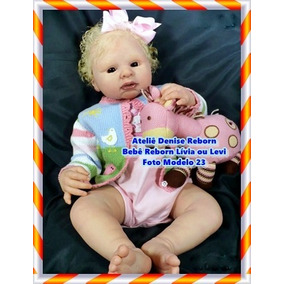 Boneca Bebê Reborn Lívia Ou Levi Opção Sem Enxoval. R  2.225 53215171317