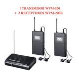 Sistema De Monitoreo Inalambrico Takstar Wpm200 Y 2 Receptor