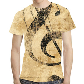 Camisa Musica Camiseta Nota Musical - Estampa Total 02