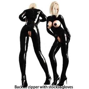 Catsuit Lenceria Bondage Bdsm Sexy Latex Negro Go Fetish
