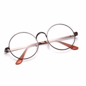 Armação De Óculos D Grau Metal Redondo Masculino Feminino Bp 7b996fc9f1