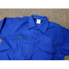 Camisa Eletricista Azul Royal Antichamas Nr10 Santanense