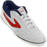 99d95783fe Chuteira Futsal Topper Dominator Iii Branco E Vermelho - Mas