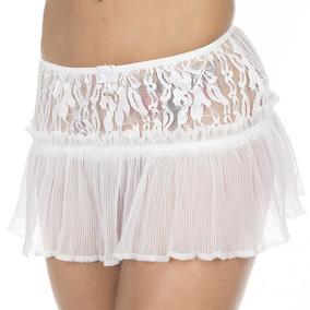 Sainha Drapy Branca Pimenta Sexy - Saia Sexy 3079