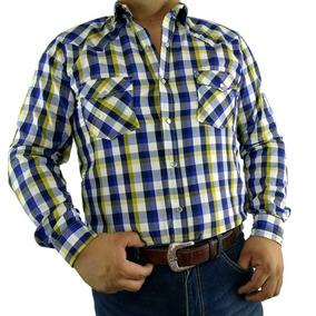 3b8e1601ac Camisas Vaqueras De Cuadros Para Hombre - Camisas Manga Larga de ...