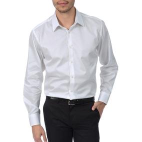 94b78a2d3c831 Camisa Social Colombo Masculina Upper Branca Lisa