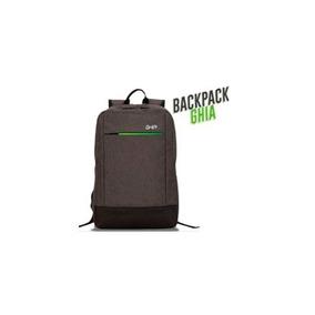 Mochila Backpack Ghia 15.6 Gris/verde 3 Compartimientos
