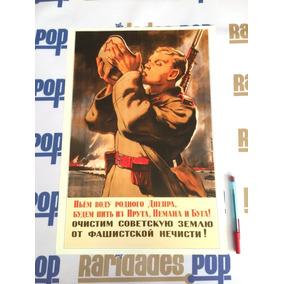 Cartaz Pôster 2ª Segunda Guerra Mundial 1943 Reich Nazismo
