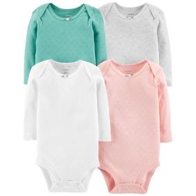 Carters Pack 4 Bodys Bebés Nenas Corazón Set