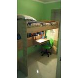 Beliche - Escrivaninha + Cadeira Quarto Integrado